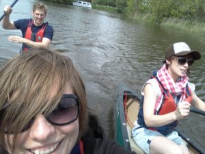 canoeing on the broads