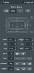 webflow position interface