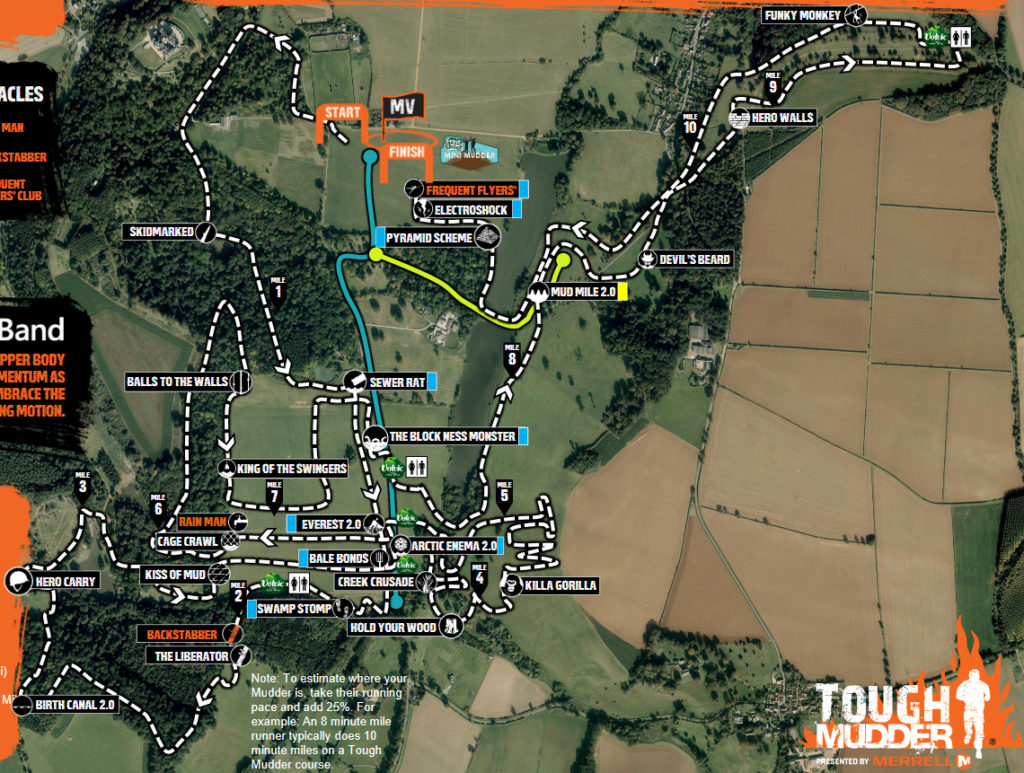 tough mudder course map