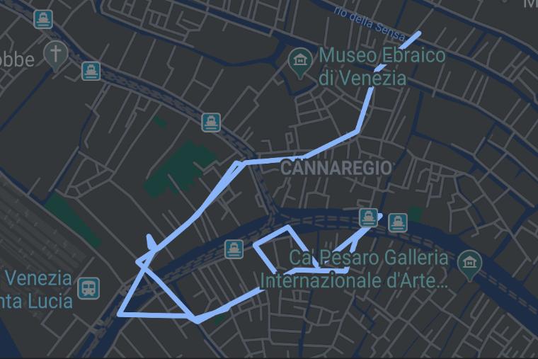 Night time walk through Venice icon