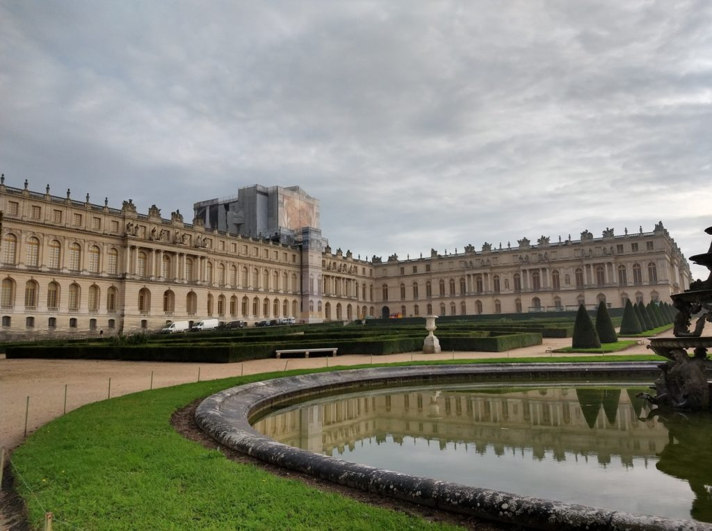 north wing of the chateau de versailles