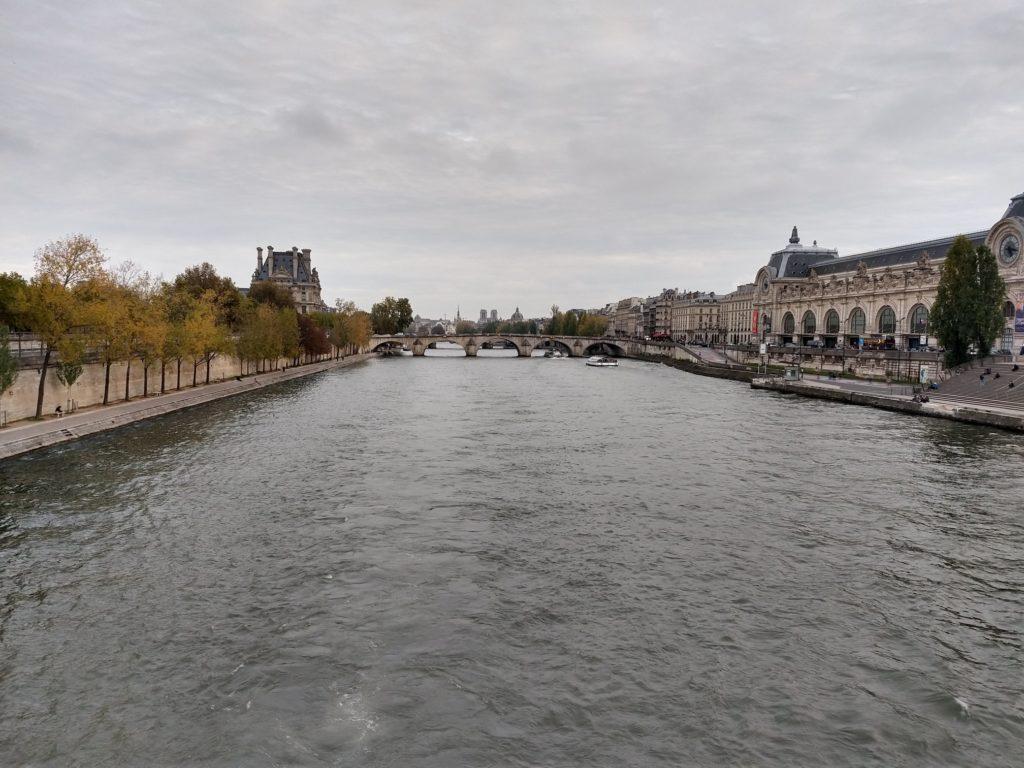 river seine from the passerelle leopold-sedar-senghor