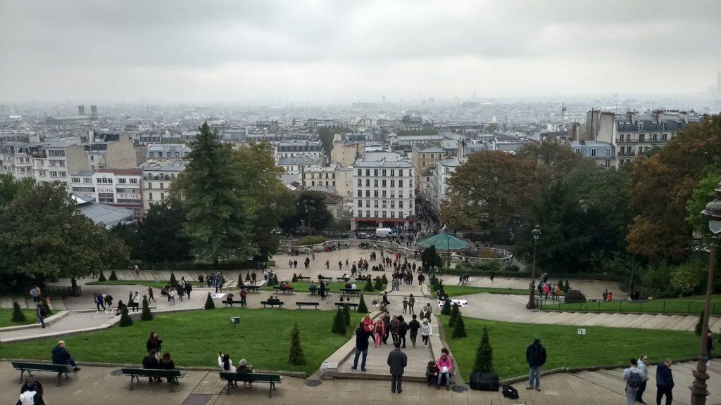 view from basilica du sacre-coeur de montmartre