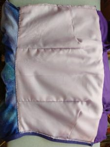 the inside of the galaxy dress showing the bodice lining