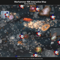 screenshot of an interactive map set in the warhammer 40,000 universe