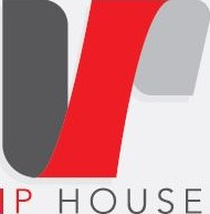 an ip house logo on a white background