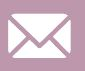 a white email icon on a purple background