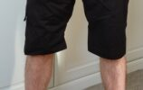 front view of tom modelling the climbing shorts