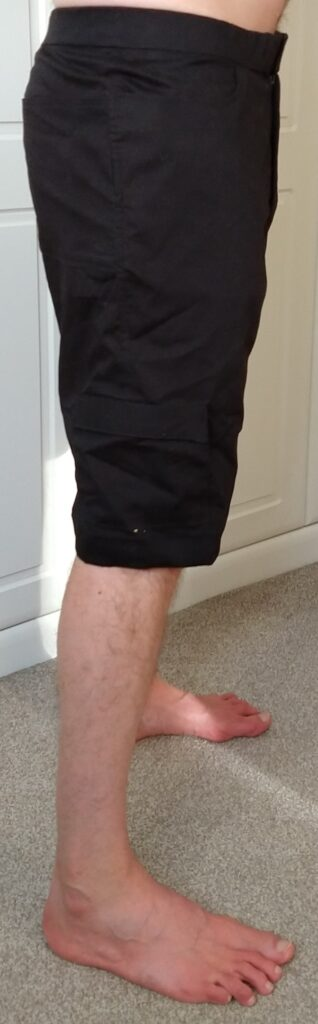 tom modelling the climbing shorts from the right side