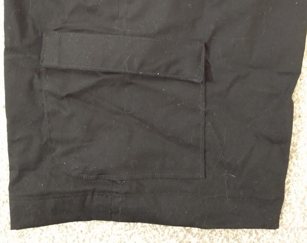 the right leg pocket on the climbing shorts
